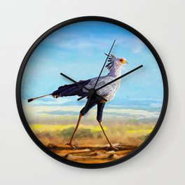 Secretary Bird Wall Clock