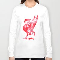 liverpool Long Sleeve T-shirts featuring Liverpool Liver Bird watercolour  by sarah illustration