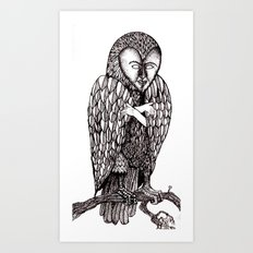 Owl being Art Print