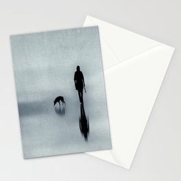 One man and his dog Stationery Cards