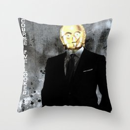 UNREAL PARTY 2012 C3PO Z6PO STAR WARS Throw Pillow