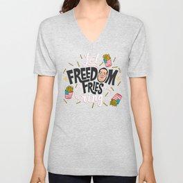 Let Freedom Fries Ring Unisex V-Neck