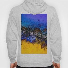 Blue and Summer Gold Circular Abstract Art Hoody