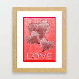 Loving Hearts Framed Art Print