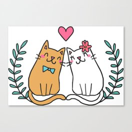 Cute Cat Lover Canvas Print