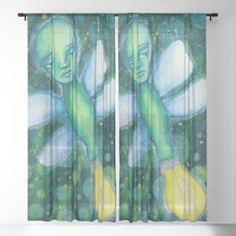 Glow worm Sheer Curtain