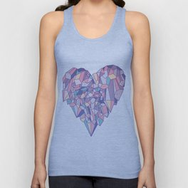 crystal heart ♥ Unisex Tank Top