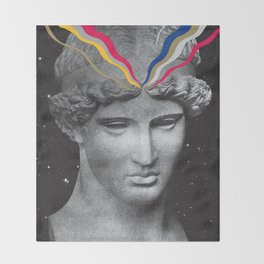 Venus di Milo in Space Throw Blanket