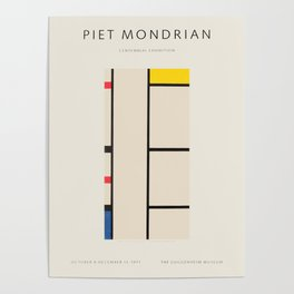 Piet Mondrian - Exhibition poster for the Guggenheim Museum, New York, 1971 Poster