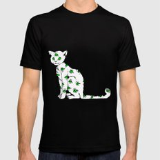 SCAREDY CAT (Cool Colors) Mens Fitted Tee Black MEDIUM