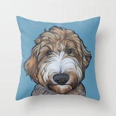 Seamus the Labradoodle Throw Pillow