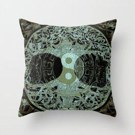 Melodic Mandala Throw Pillow