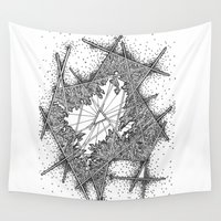 fractal Wall Tapestries featuring Fractal by Abstract Al