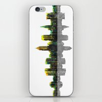 cleveland iPhone & iPod Skins featuring Cleveland Skyline by Marlene Watson