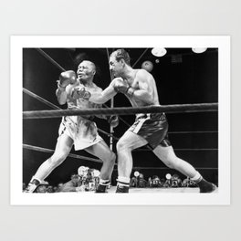 ROCKYMARCIANO BOXING POSTER Art Print