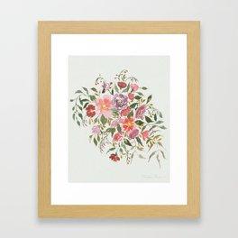 Loose Purple Bouquet Framed Art Print