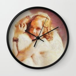 Jean Harlow, Vintage Hollywood Legend Wall Clock