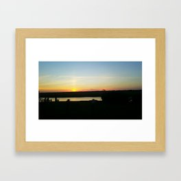 Abendrot (The Color of sunsets) Framed Art Print