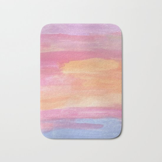 Sunset at the Ocean Bath Mat