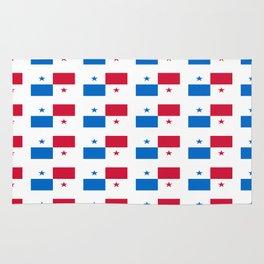 flag of panama 2 -Panama,Panamanian,canal,spanish,San Miguelito,Tocumen,latine,central america,panam Rug