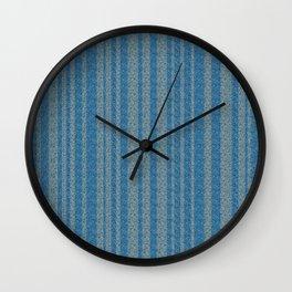 Rippled Blue Stripes Wall Clock