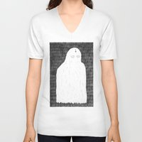 ghost V-neck T-shirts featuring Ghost by David Penela