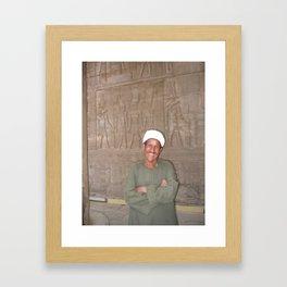 Guard at Karnak Temples in Karnak, Egypt (2005b) Framed Art Print