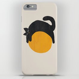 Cat with ball iPhone Case
