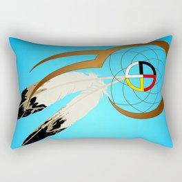 dreamcatcher blue Rectangular Pillow