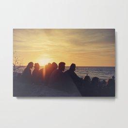 Sunset at the Baltic Sea Metal Print
