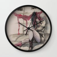 harley Wall Clocks featuring Harley by Alonzo Canto