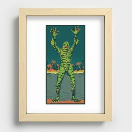 The Creature Surfaces Recessed Framed Print