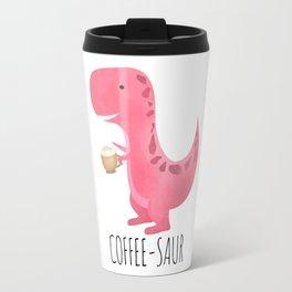Coffee-saur | Pink Travel Mug