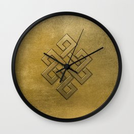 Golden Embossed Endless Knot Wall Clock