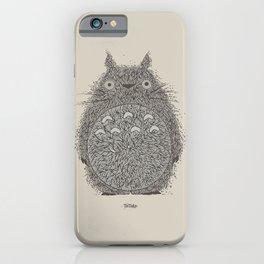 Cream Totoro iPhone Case