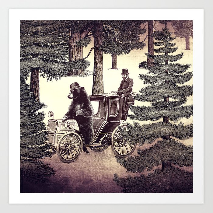 Two Gentlemen in the Forest Art Print