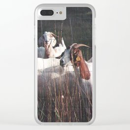 Goats Clear iPhone Case