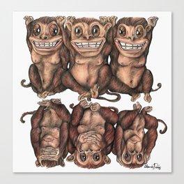 Emancipated Monkeys  Canvas Print