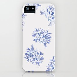 Watercolor blue agapanthus iPhone Case