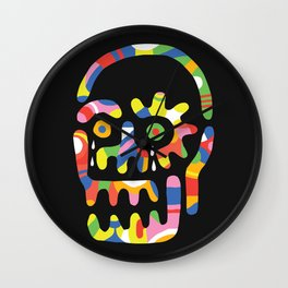 Party Skull Wall Clock