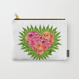 i Heart Pot Leaves Bouquet Carry-All Pouch