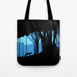 Fox in the woods silhouette Tote Bag