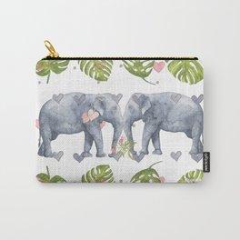 Soulmates - Elephant Ilustration - Bagaceous Carry-All Pouch