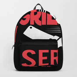 Serial Griller bacon meat fire tasty Backpack