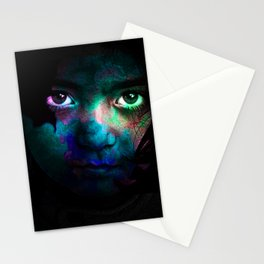 Colorful portrait Stationery Cards