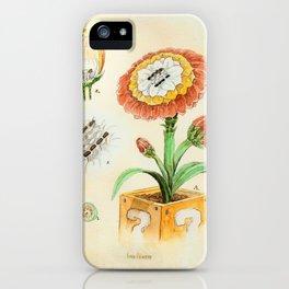 Fire Flower Botanical Illustration iPhone Case