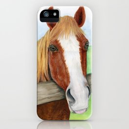 Cinnamon Horse Watercolor iPhone Case