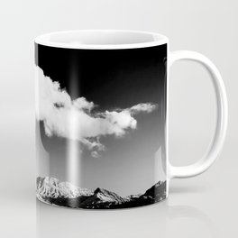 Black Sky Desert Landscape // Red Rock Canyon Las Vegas Nevada Mojave Mountain Range Coffee Mug