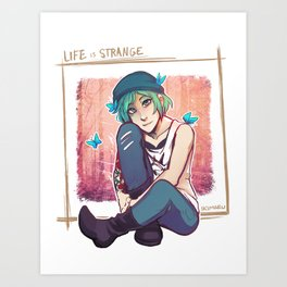 Chloe's Butterflies Art Print