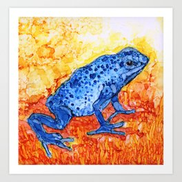 The Poisonous Frog By Pam Hayes Art Print